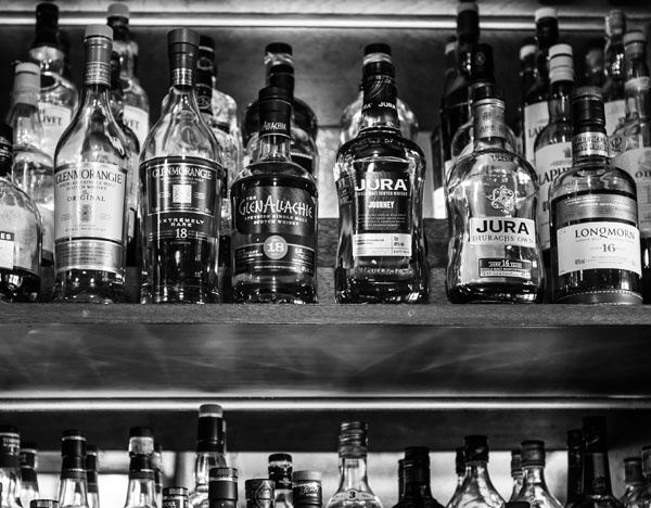 A whisky list of over 80 malts.